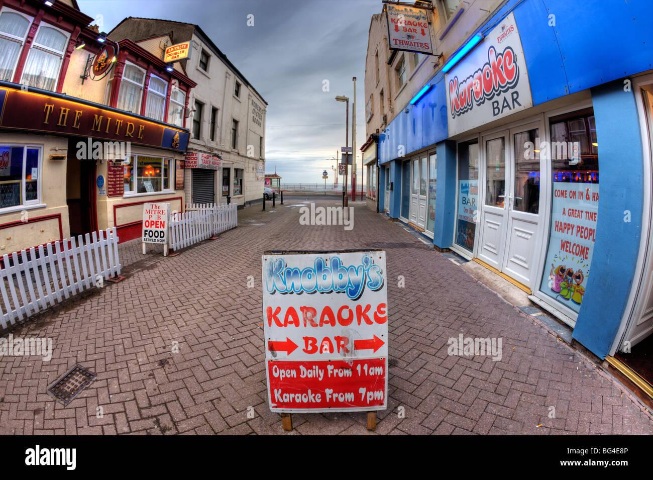 Blackpool karaoke venue - Stock Image