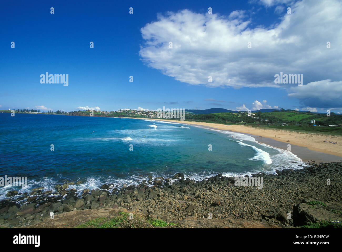 Bombo Beach, Kiama, south coast, New South Wales, Australia, Pacific - Stock Image