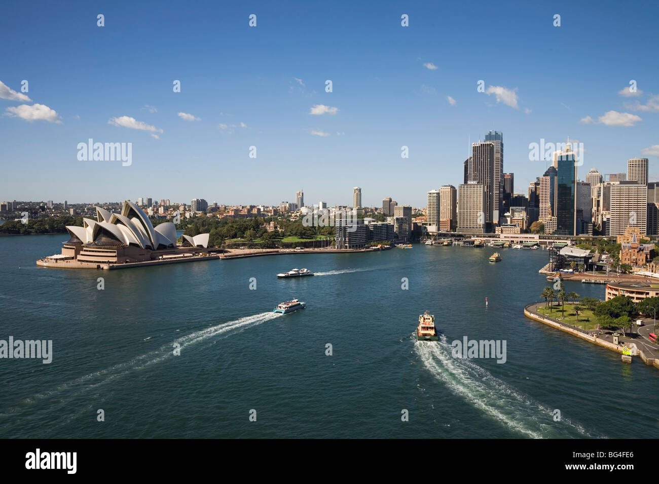 Circular Quay, Sydney Ferries terminus and rail stop, Sydney, New South Wales, Australia - Stock Image