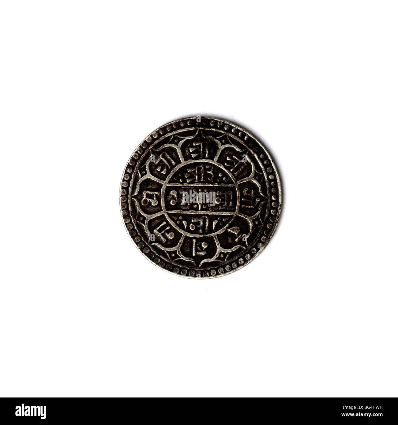 Tibetan coin - Stock Image