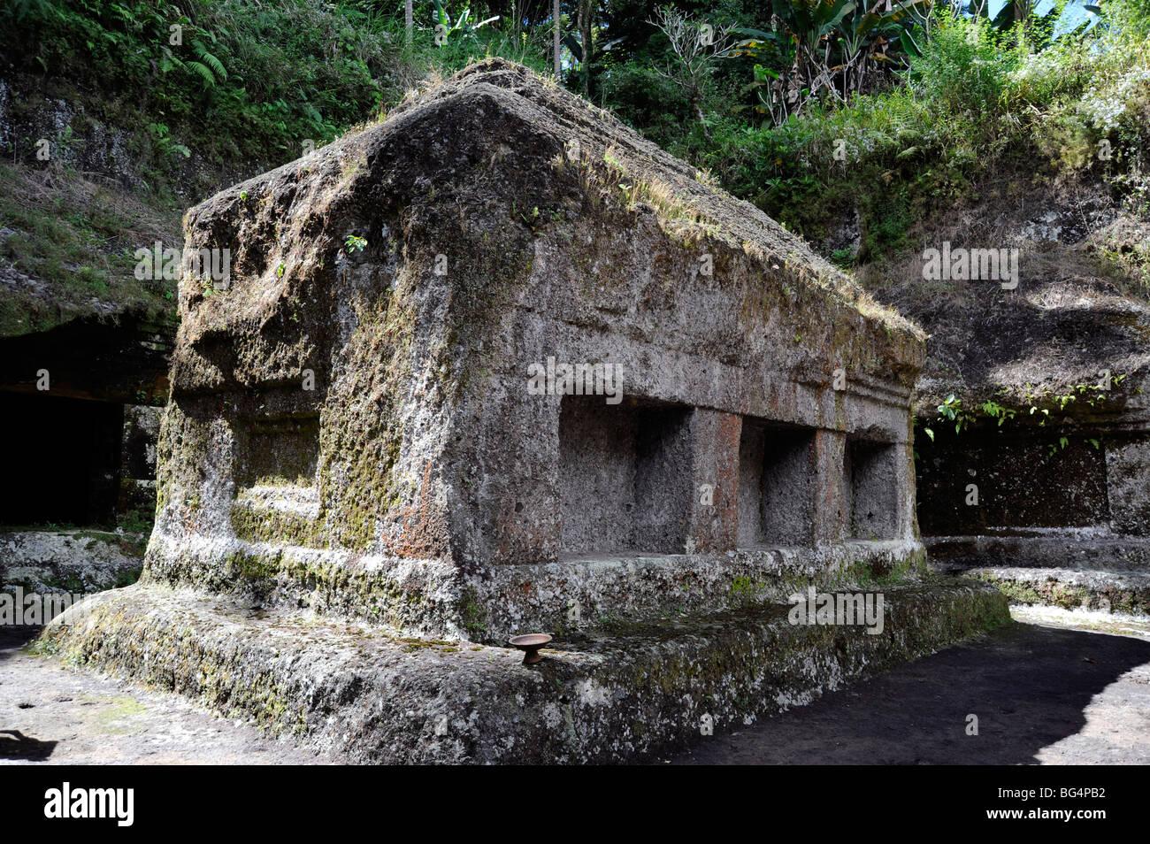 Hermitage Buddhist and Hinduist in Gunung Kawi Temples, Tampaksiring, Bali, Indonesia - Stock Image