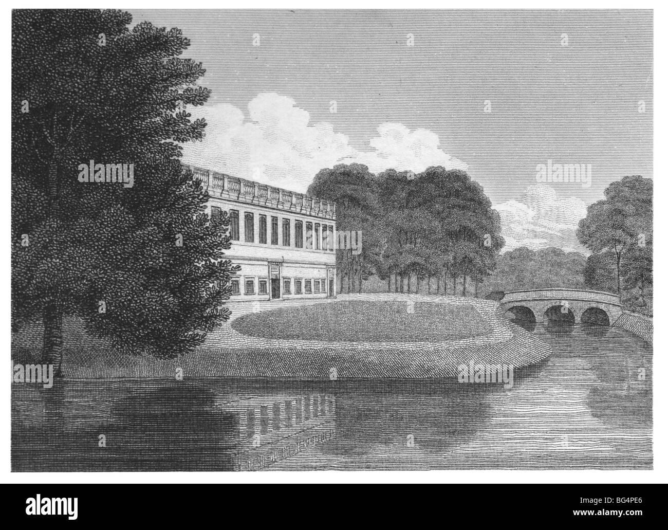 Trinity College, Cambridge – Library - Stock Image