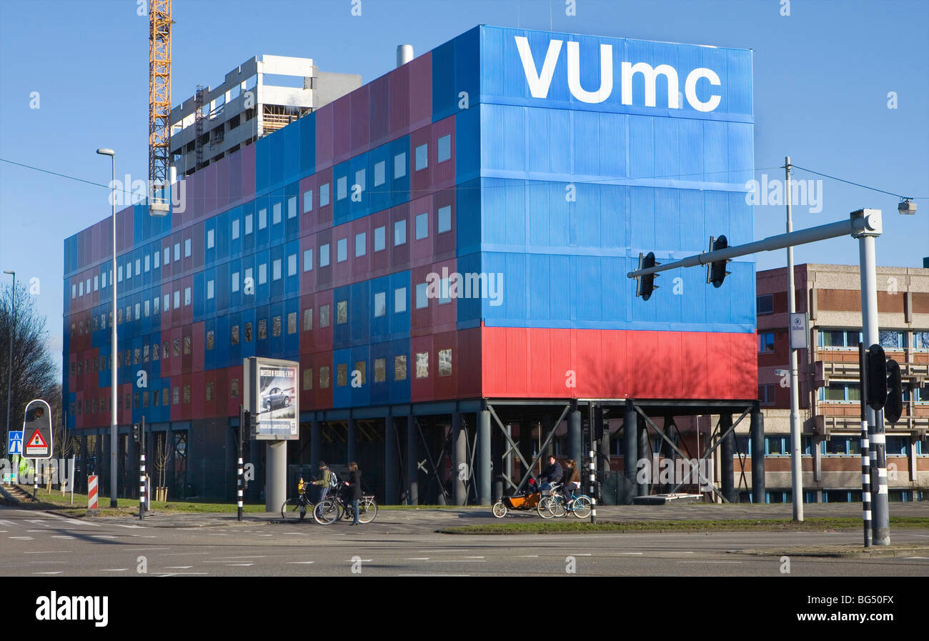 emergency housing to create necessary office space at the university medical centre in Amsterdam. - Stock Image