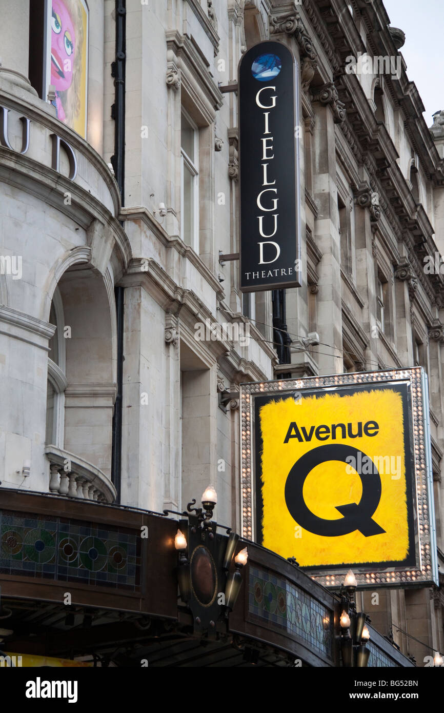 The Gielgud theatre, in Londons West End, London, England, UK - Stock Image