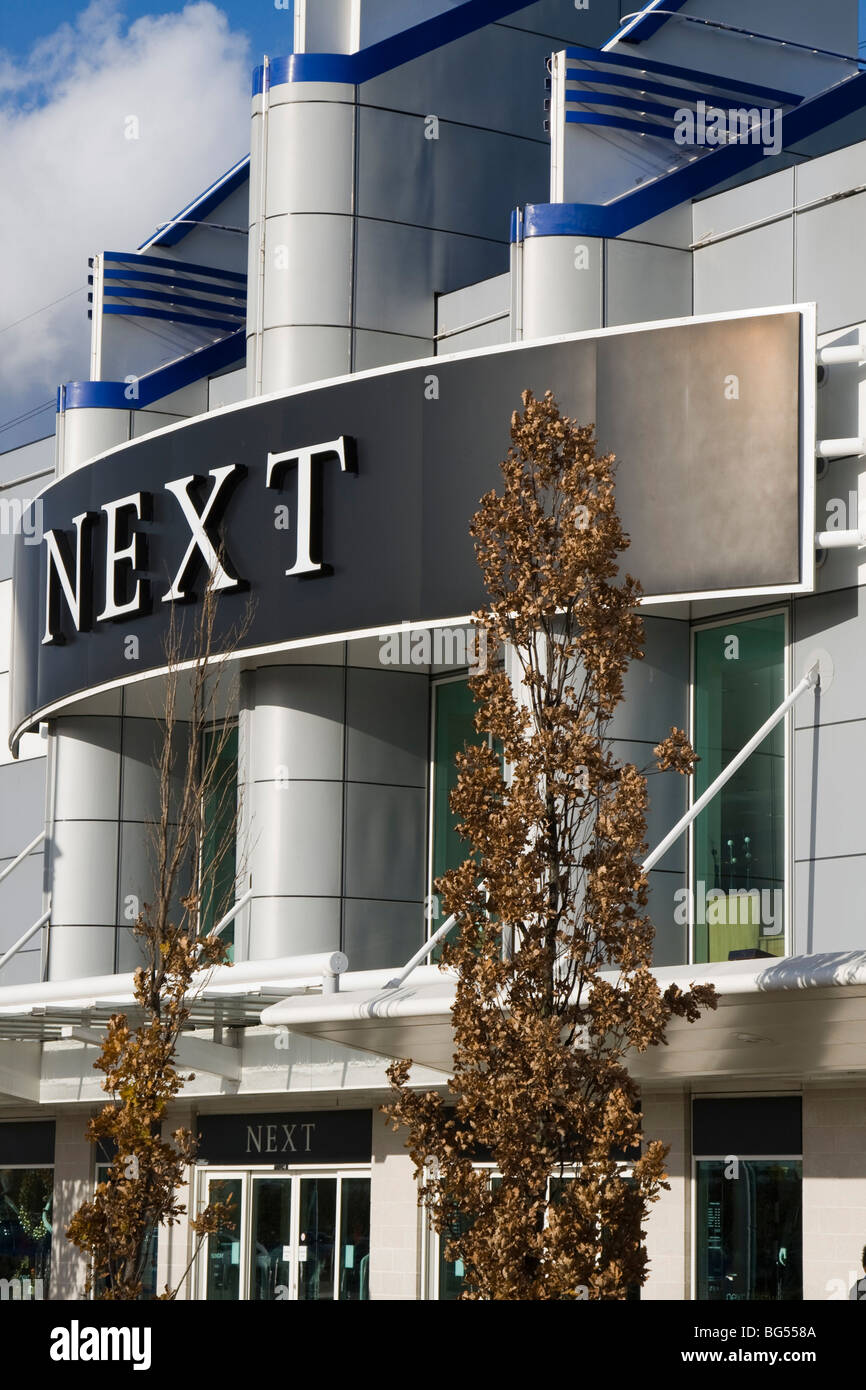 next store shop front gallions reach shopping centre within the M25 east london england uk gb Stock Photo