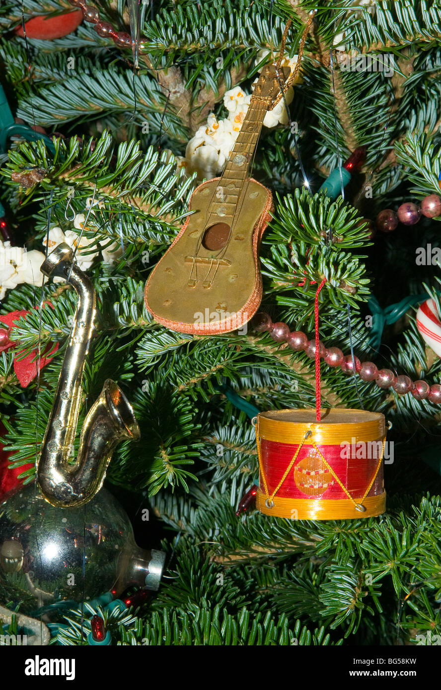 Musical Instrument Christmas tree ornaments / guitar,drum,saxophone ...