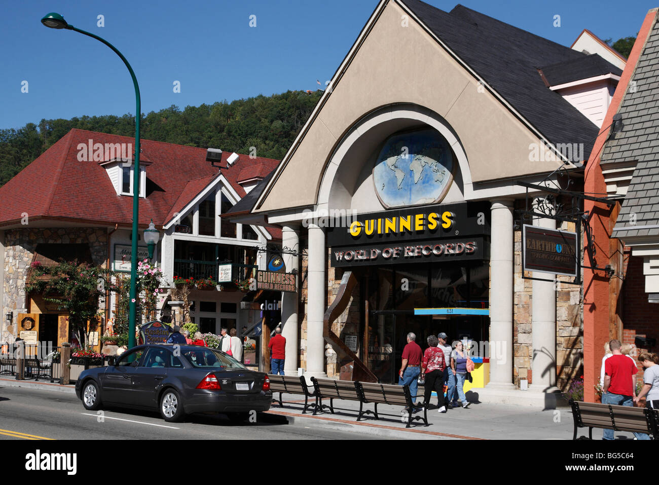Guinness World of Records museum building in Gatlinburg Tennessee USA - Stock Image