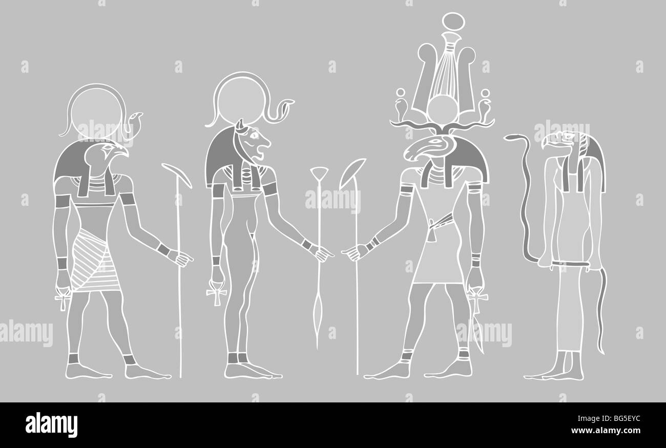 Egyptian Deities Black And White Stock Photos Images Alamy