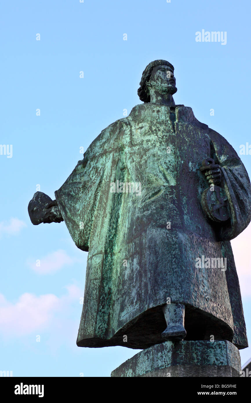 Statue of Bartolomeu Dias in Cape Town, South Africa - Stock Image