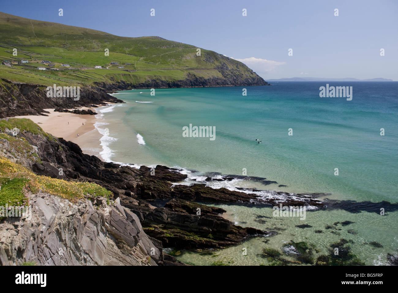 Beach on the Dingle Peninsula, West Coast of ireland - Stock Image