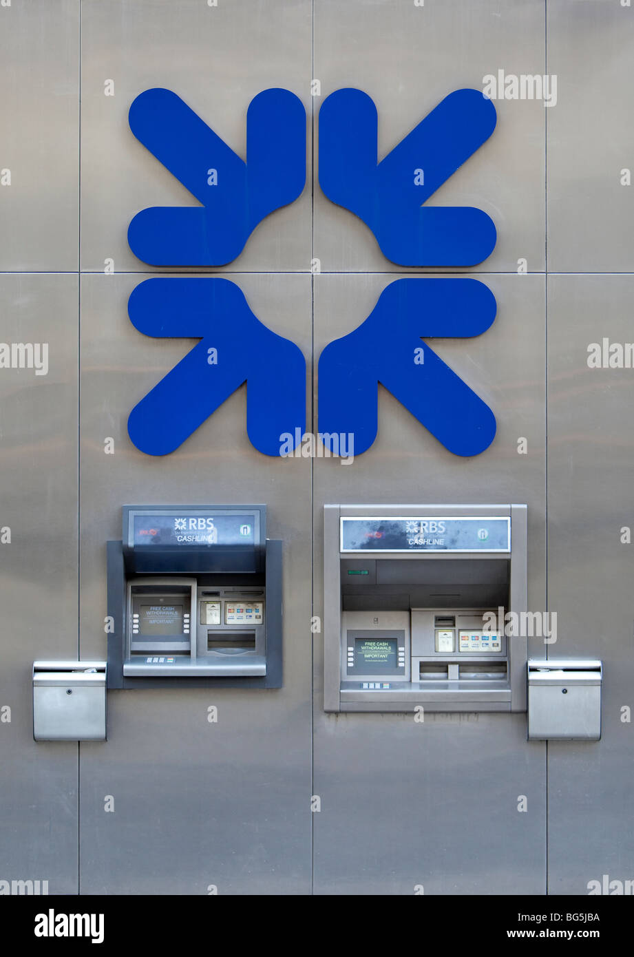 Royal bank of Scotland RBS sign/logo - Stock Image