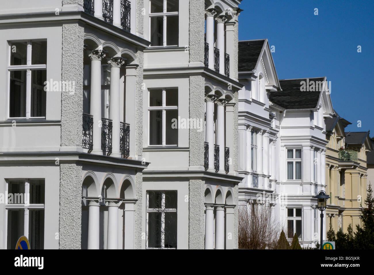 Bäderarchitektur, Heringsdorf, Insel Usedom, Mecklenburg-Vorpommern, Deutschland | Heringsdorf, Isle of Usedom, - Stock Image