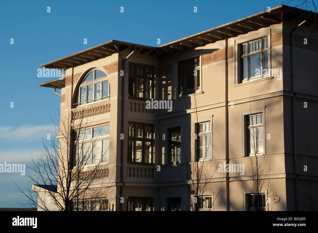 Villa San Marino, Bäderarchitektur, Heringsdorf, Insel Usedom, Mecklenburg-Vorpommern, Deutschland | villa, - Stock Image