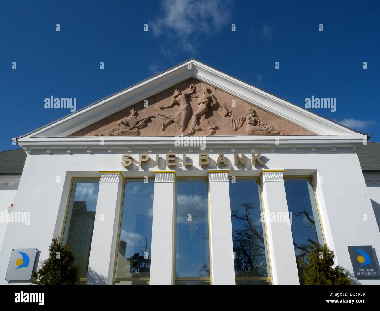Giebel der Spielbank, Casino, Heringsdorf, Insel Usedom, Mecklenburg-Vorpommern, Deutschland | Casino, Heringsdorf, - Stock Image