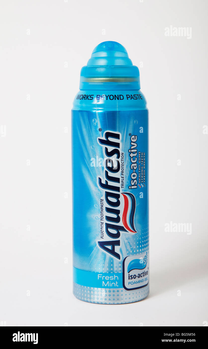 can toothpaste aquafresh - Stock Image