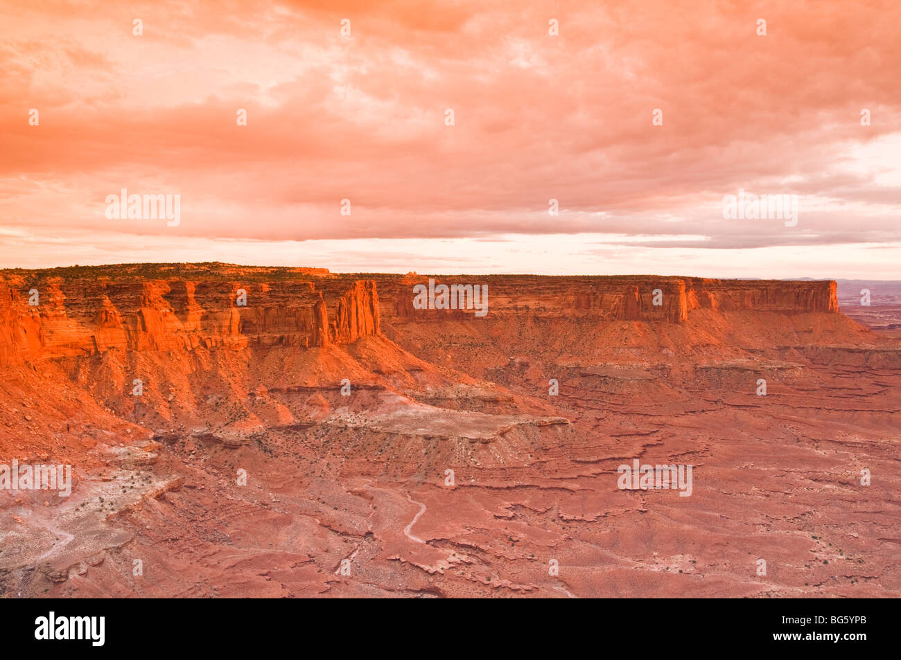 The White Rim from Green River Overlook, Island in the Sky, Canyonlands National Park, Utah - Stock Image