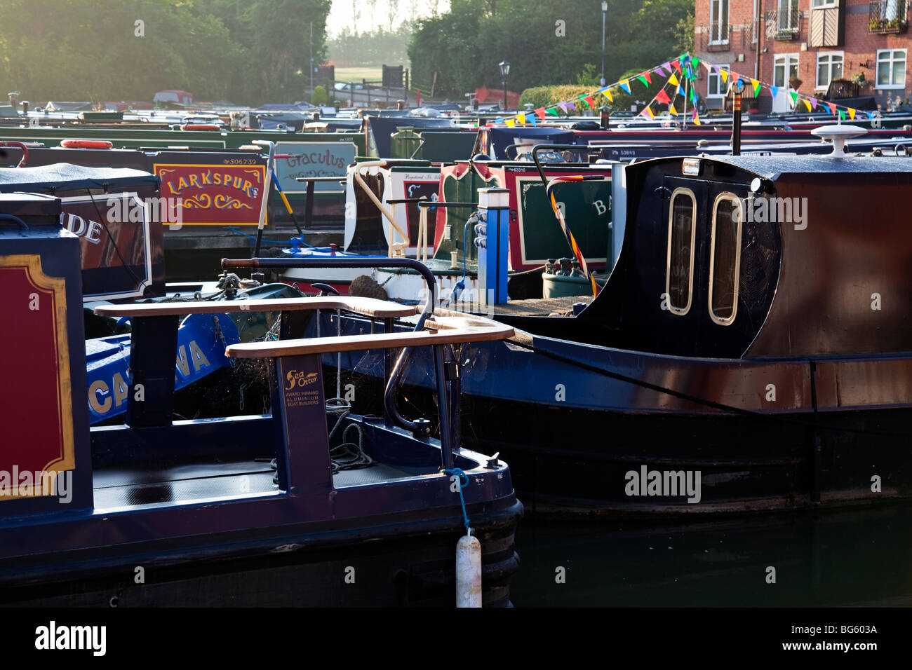 England Northamptonshire Braunston Marina - Stock Image