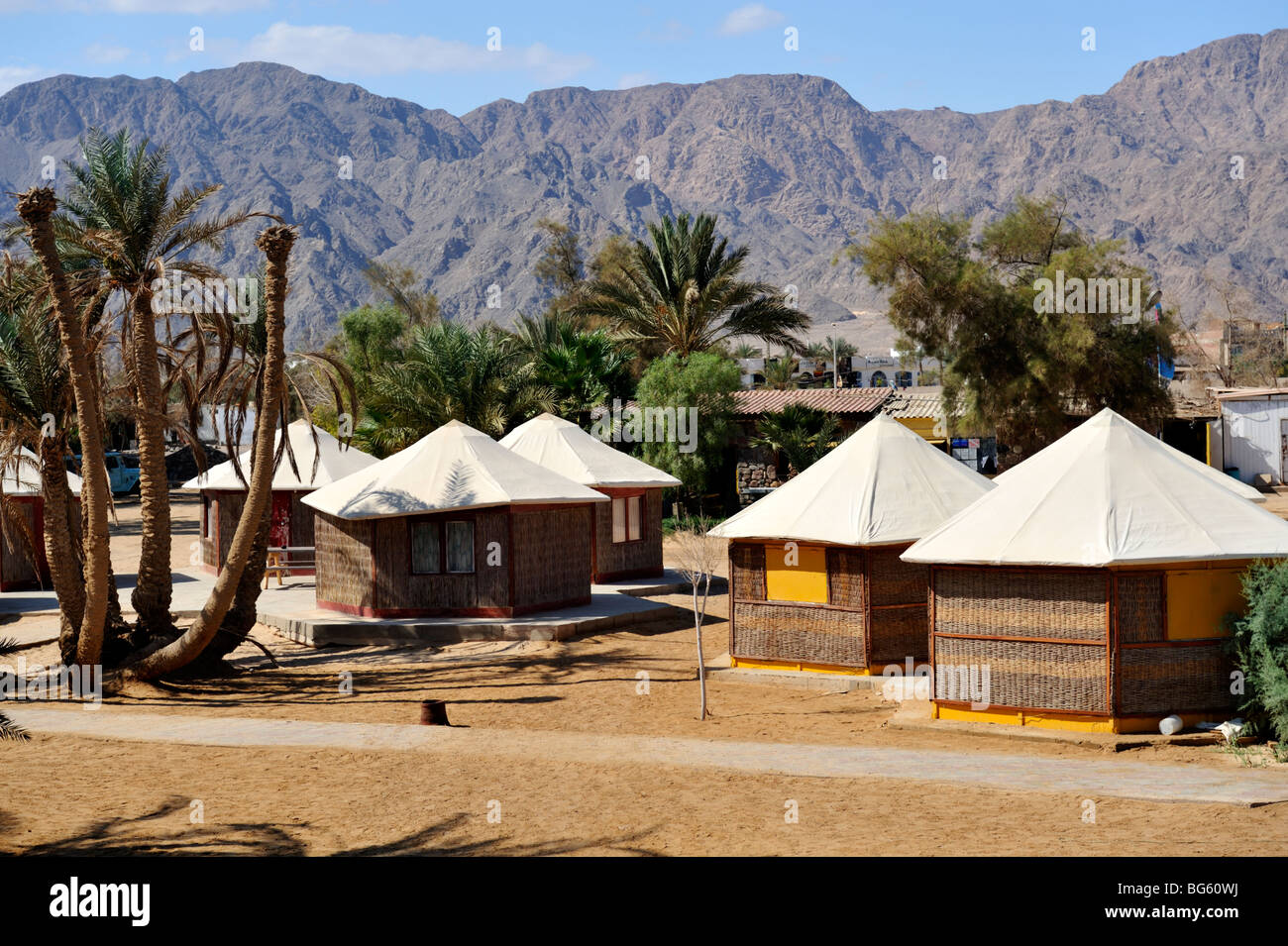 Cabins at Scuba-College and Nuweiba Village Resort, 'Red Sea' Egypt - Stock Image