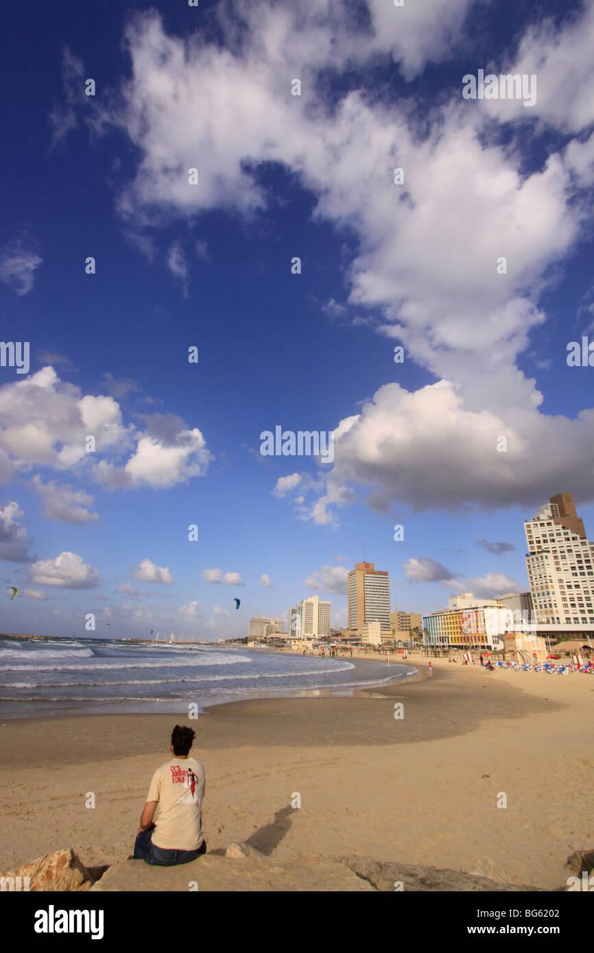Israel, Tel Aviv Beach Stock Photo
