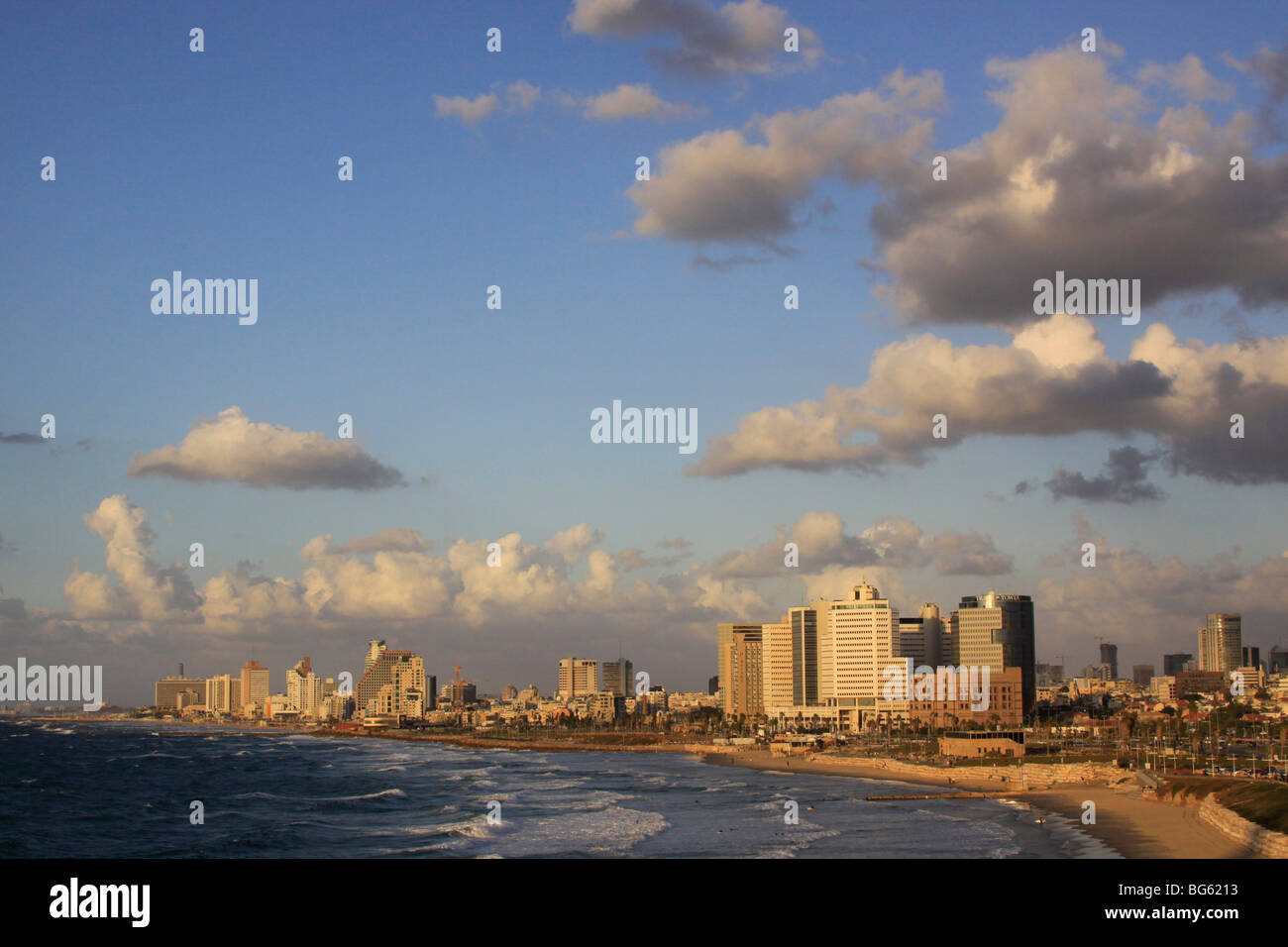 Israel, Tel Aviv coastline Stock Photo