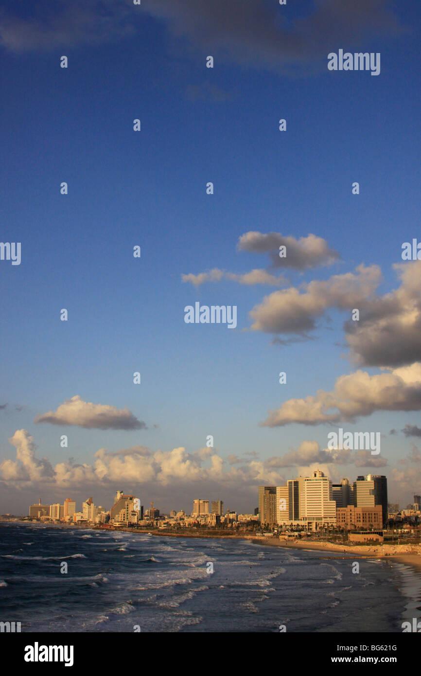 Israel, Tel Aviv coastline Stock Photo