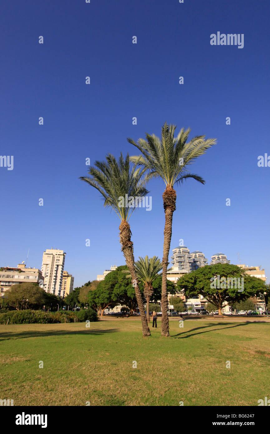 Israel, Hamedina Square in Tel Aviv - Stock Image