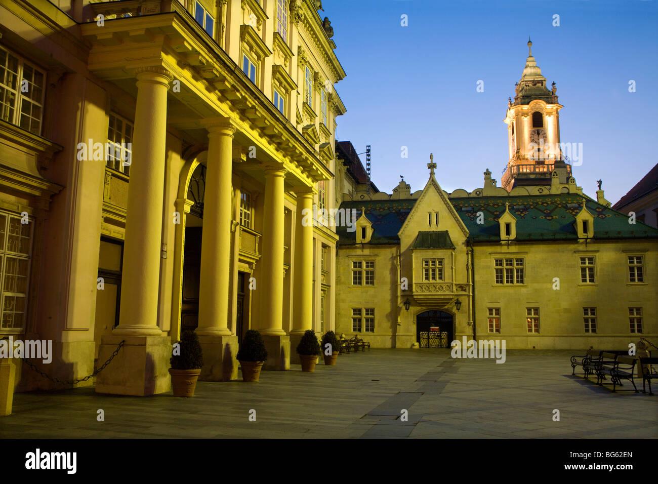metropolitan palace and town-hall - Bratislava - evening - Stock Image