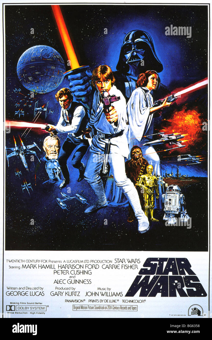 STAR WARS Poster for 1977 TCF/Lucasfilm production - Stock Image