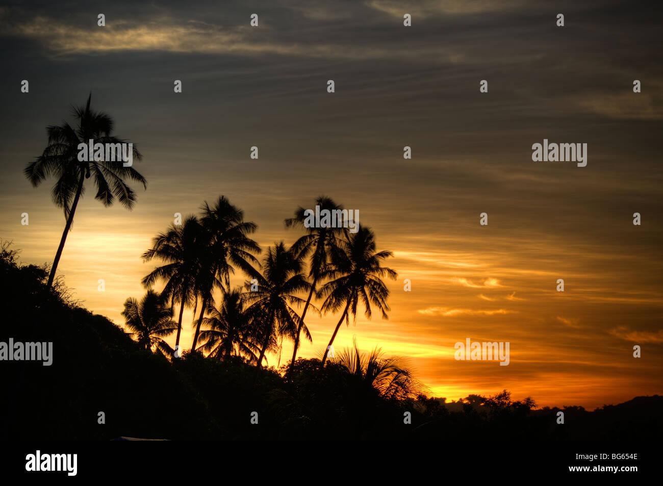 Samoa Savii Sunset - Stock Image