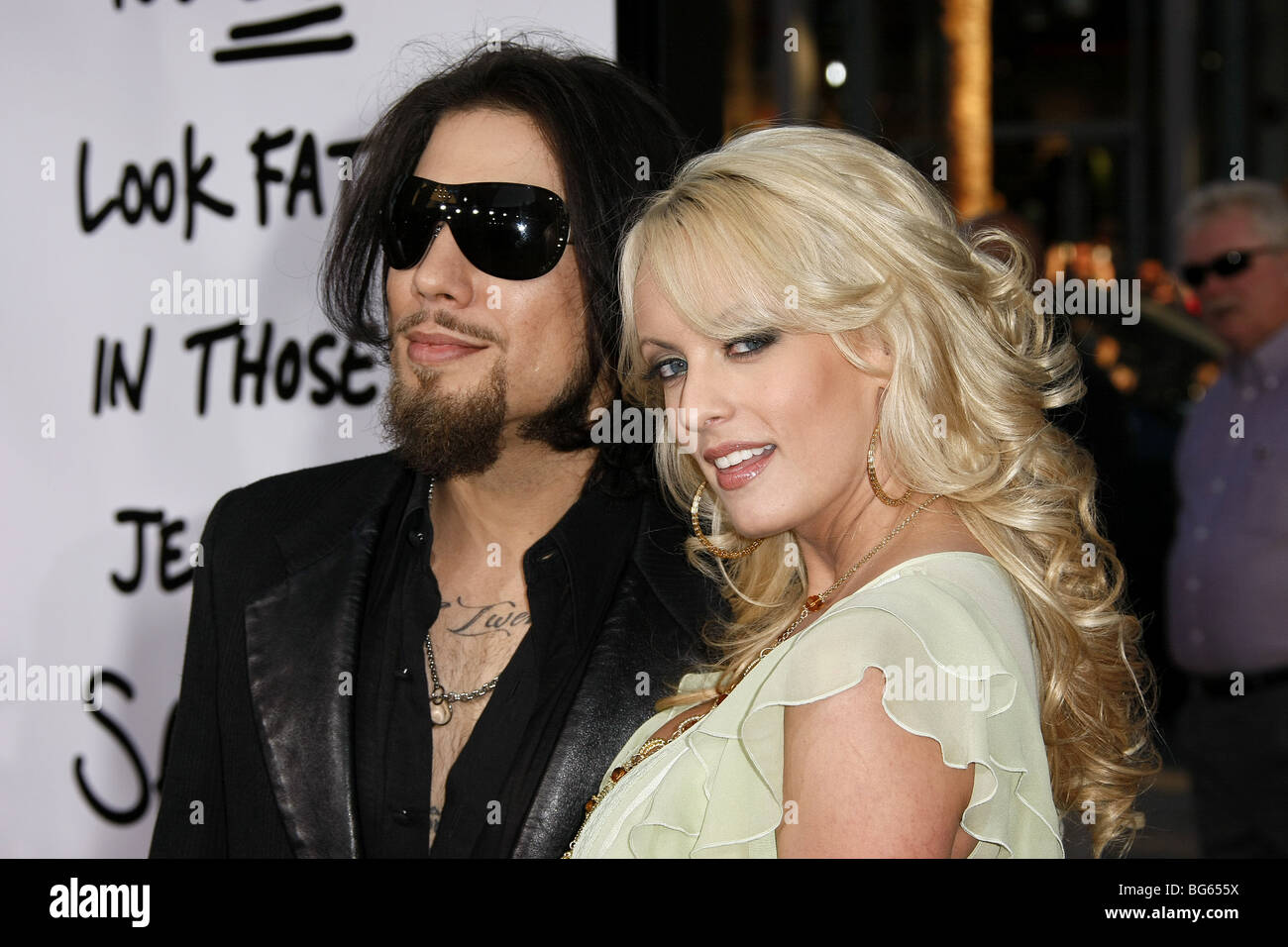 DAVE NAVARRO STORMY DANIELS FORGETTING SARAH MARSHALL WORLD PREMIERE GRAUMANS CHINESE HOLLYWOOD LOS ANGELES USA - Stock Image