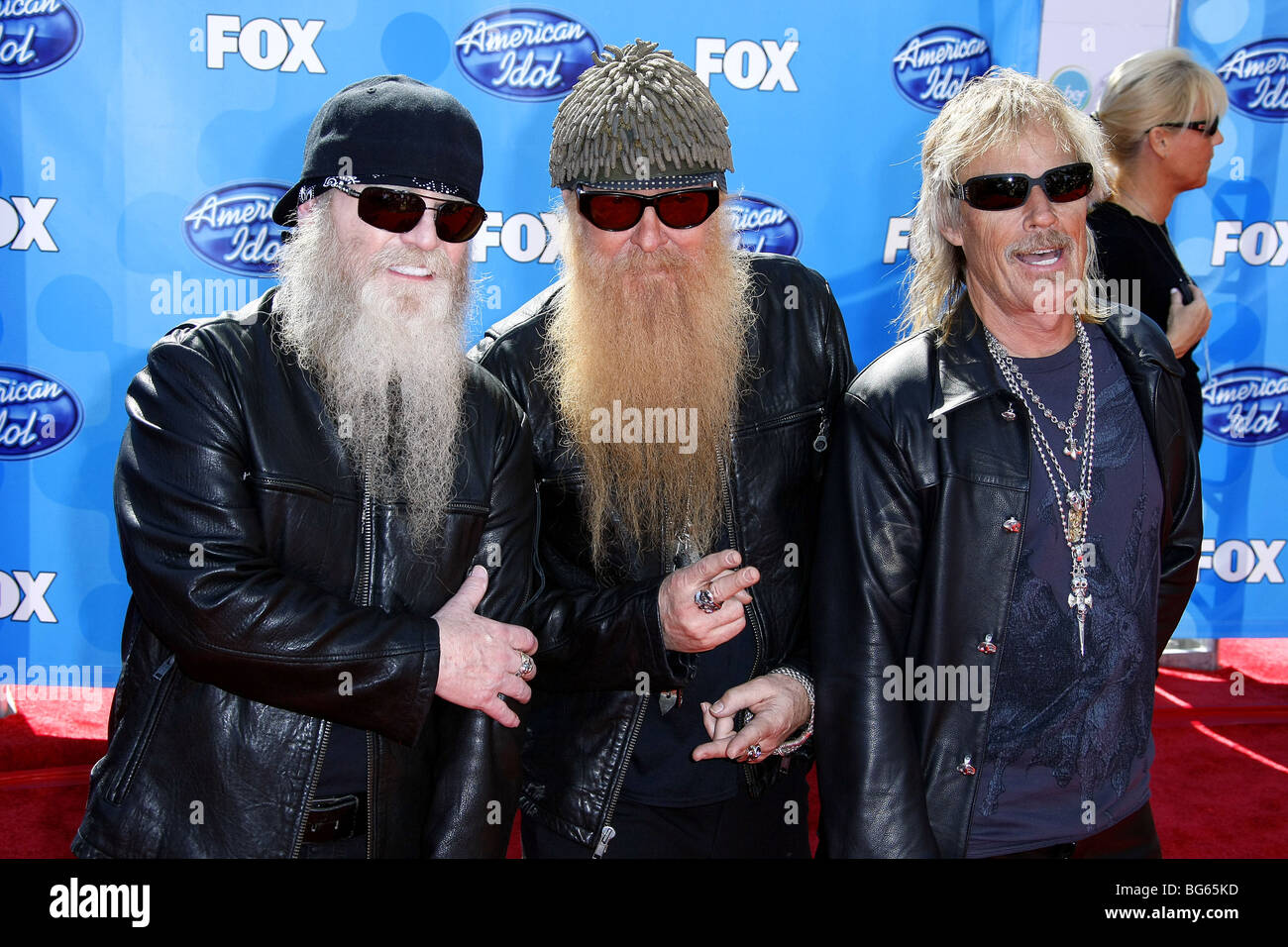 ZZ TOP AMERICAN IDOL GRAND FINALE 2008 DAY 2 NOKIA THEATRE DOWNTOWN LOS ANGELES USA 21 May 2008 - Stock Image