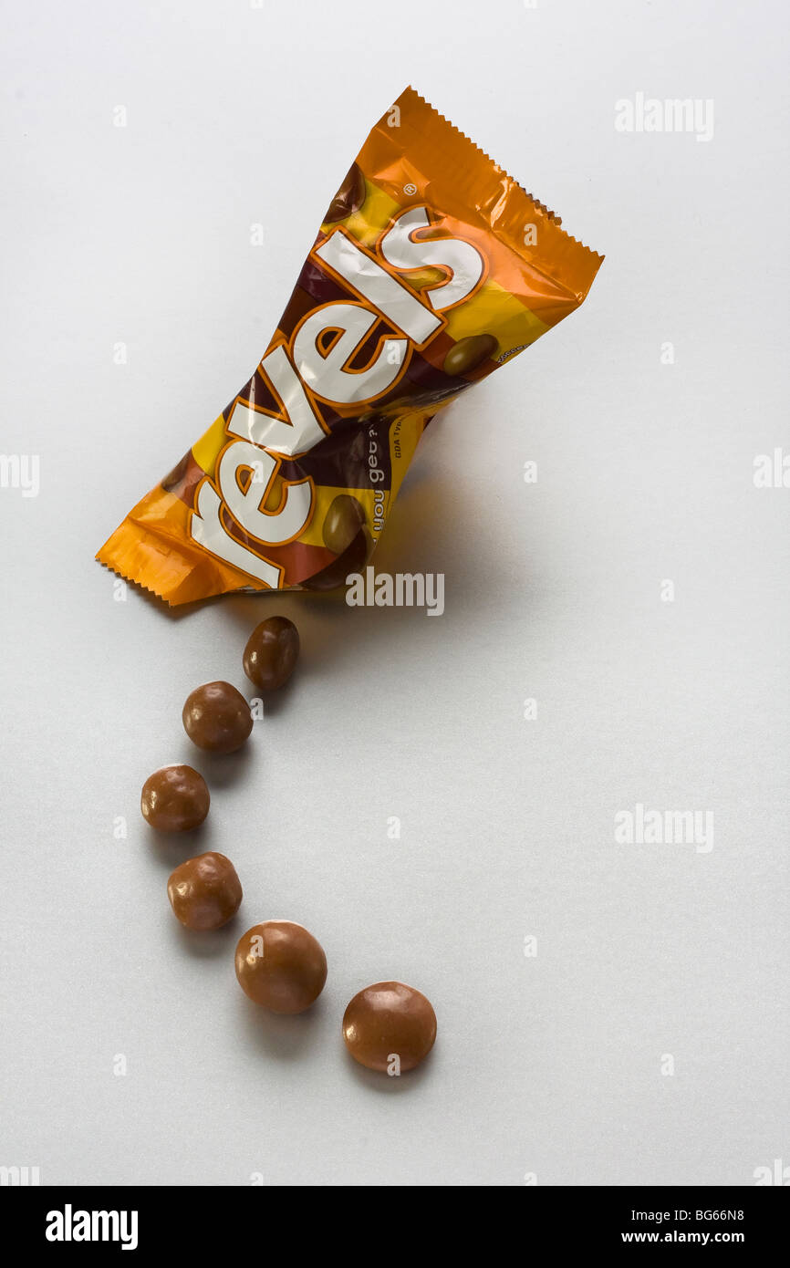 A packet of revels chocolate cut out - Stock Image