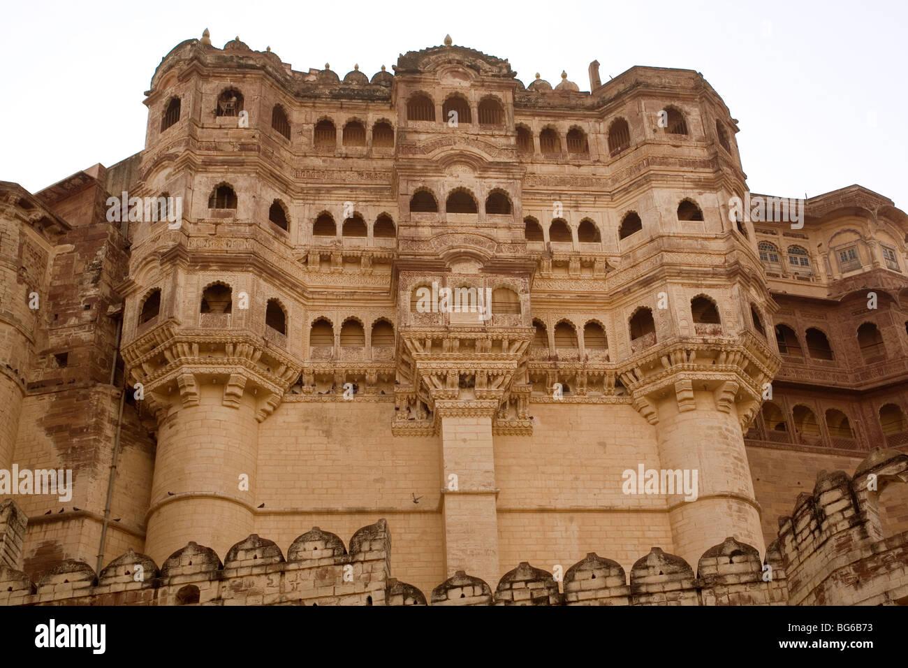India Rajasthan Jodhpur Meherangarh fort - Stock Image