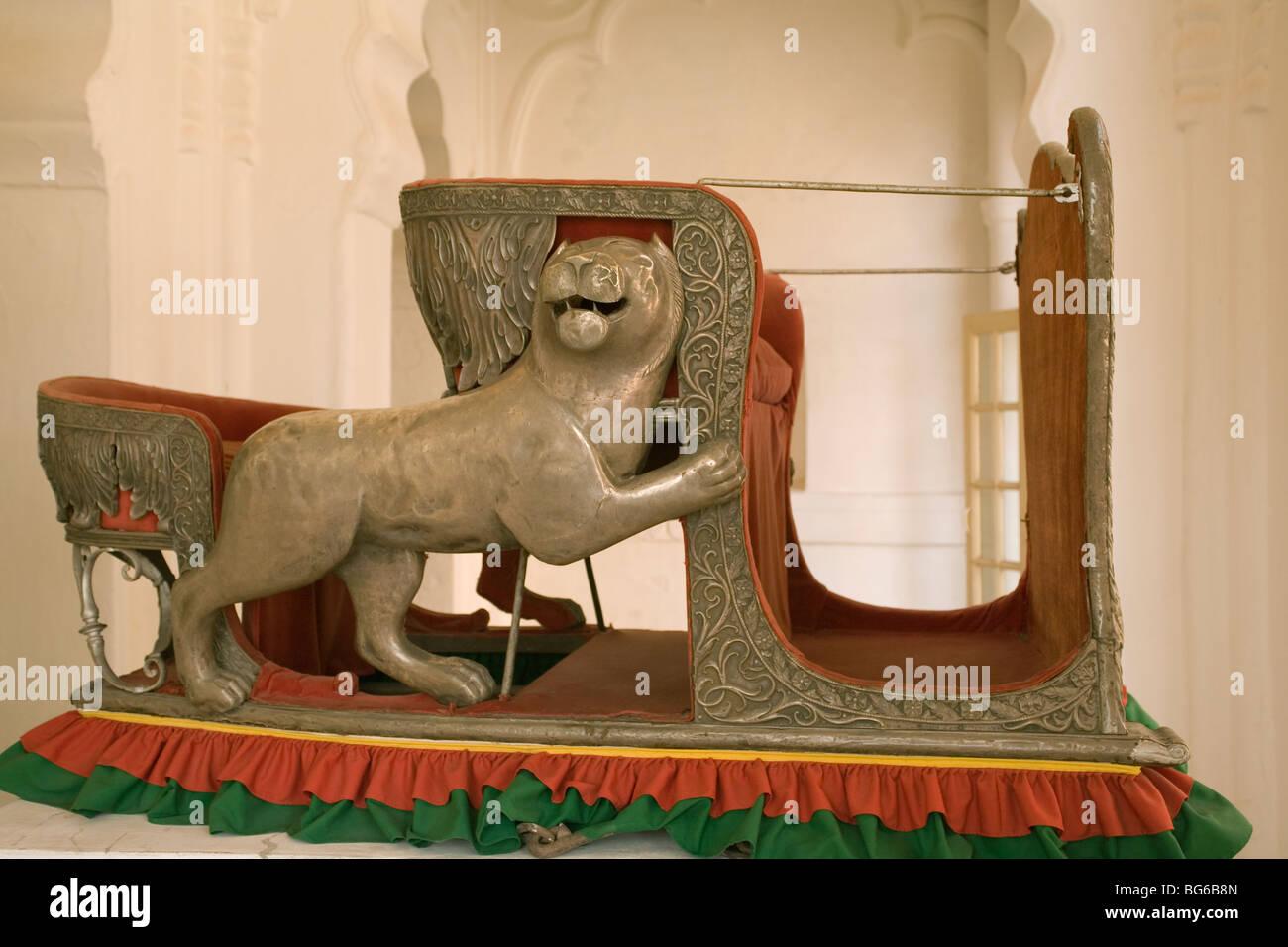 India Rajasthan Jodhpur Meherangarh fort Howdah - Stock Image
