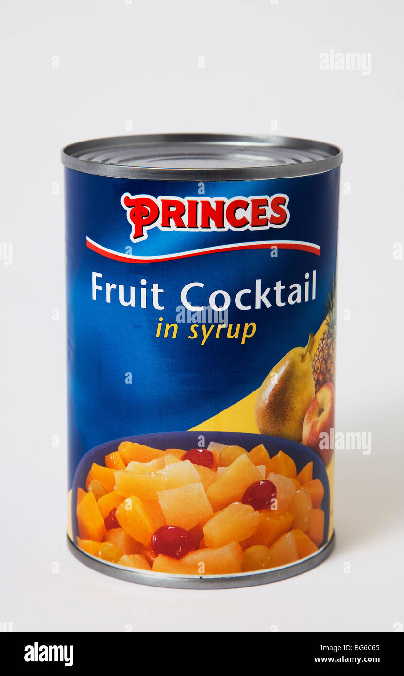 tin princes 'fruit cocktail'  desert - Stock Image