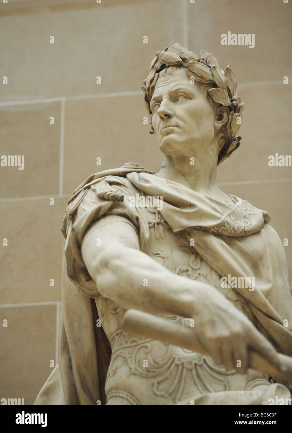 Statue of Julius Caesar by Nicolas Coustou,  The Louvre Museum, Paris, France Stock Photo