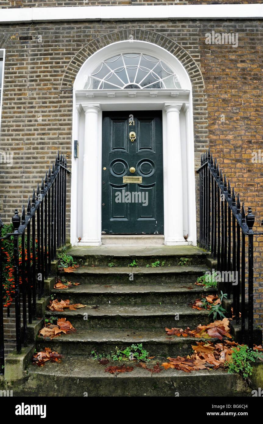 Steps Up To Georgian Front Door Highbury Terrace Islington London England  UK   Stock Image