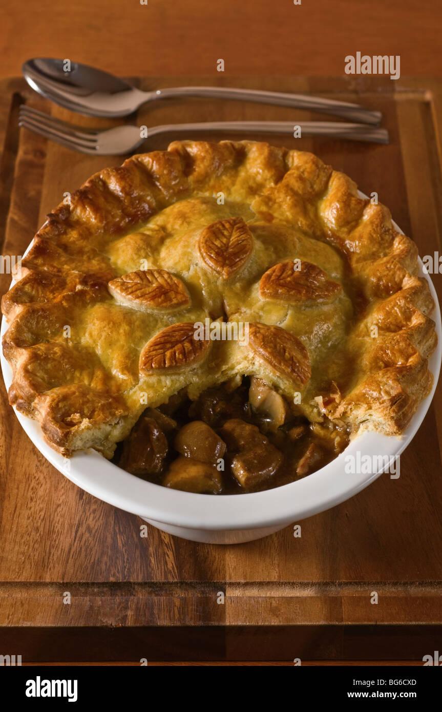 Steak and kidney pie - Stock Image