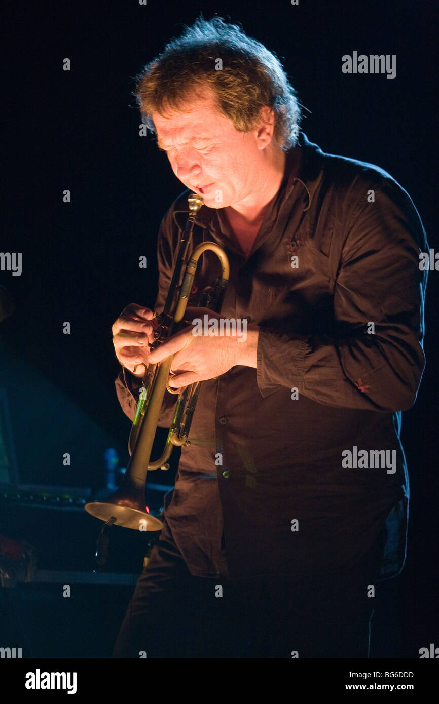 BUDAPEST-November 21: Nils Petter Molvaer performs on  stage at Millenaris on November 21 - Stock Image