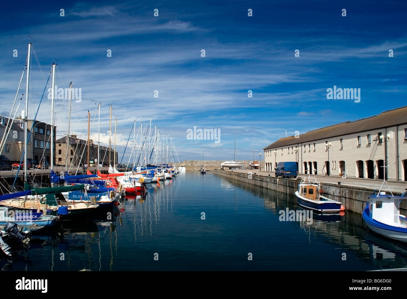 Harbour in Lossiemouth, Moray Shire, Scotland, UK - Stock Image