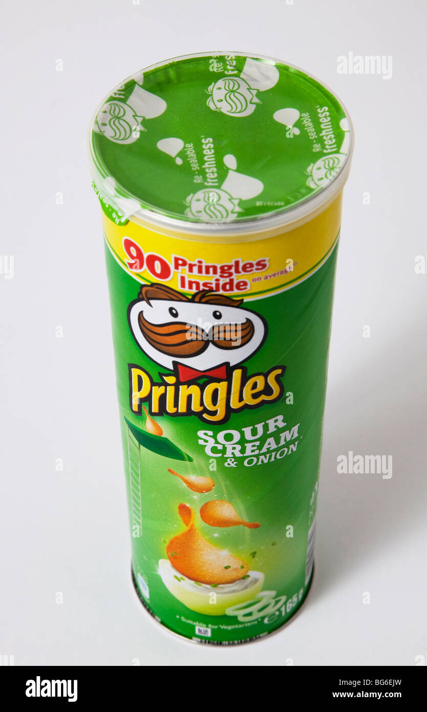 'sour cream' pringles tube - Stock Image