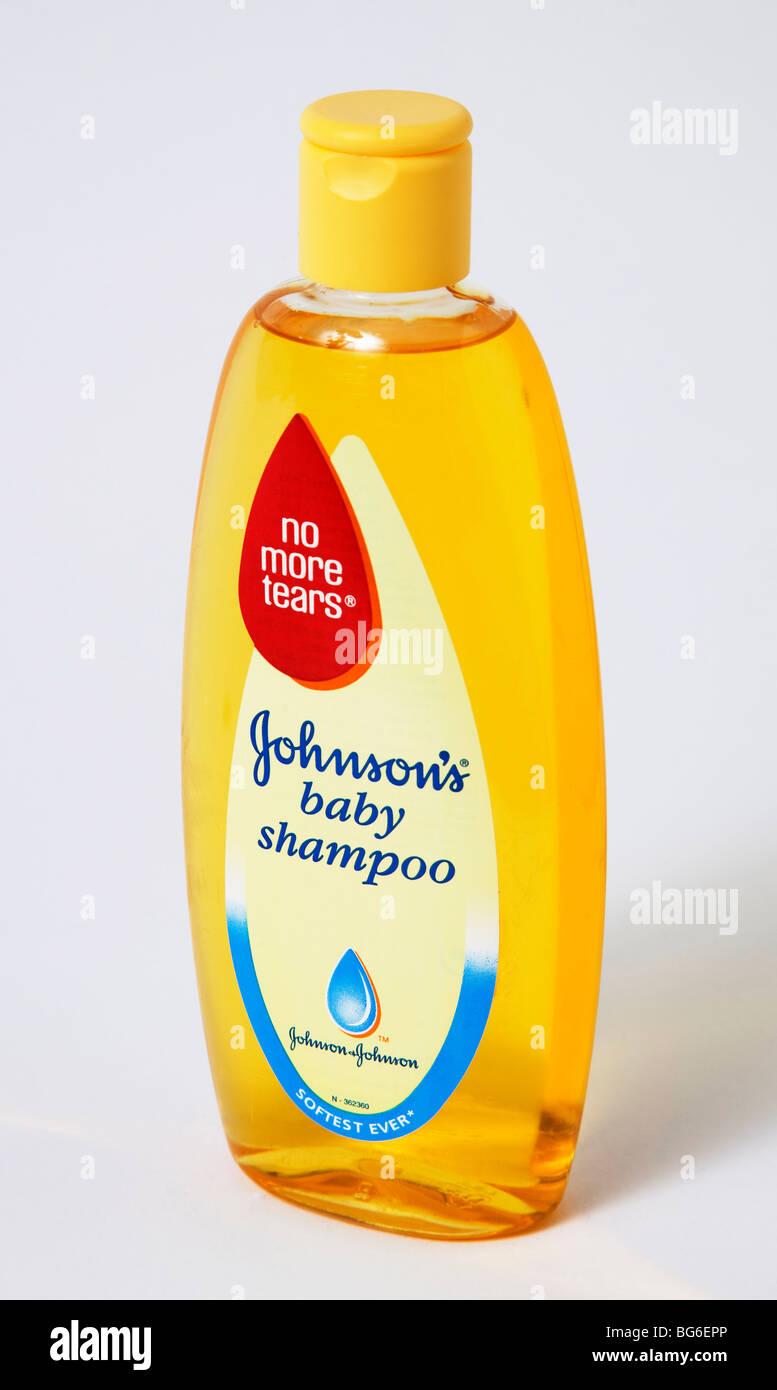 bottle johnson's baby shampoo 'no tears' 'no more tears' - Stock Image