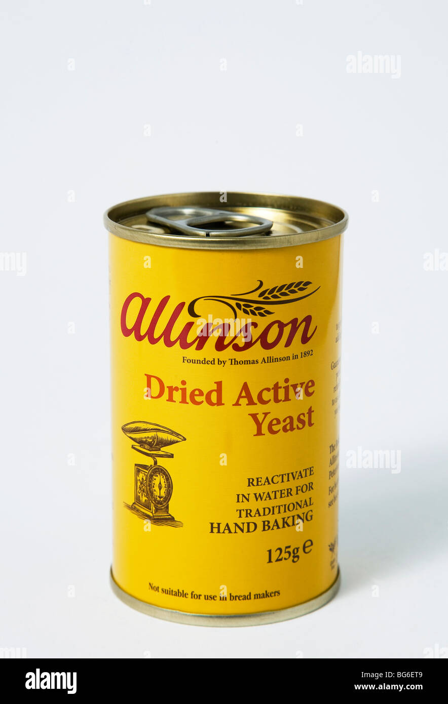 allinson dried active yeast 'bread making' 'bread maker' - Stock Image