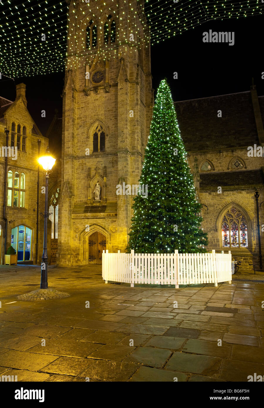 England County Durham Durham City Christmas Tree In The Market