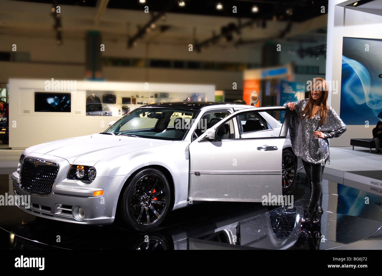 a 2010 chrysler 300 dub edition at the 2009 la auto show in the los stock photo 27190886 alamy. Black Bedroom Furniture Sets. Home Design Ideas