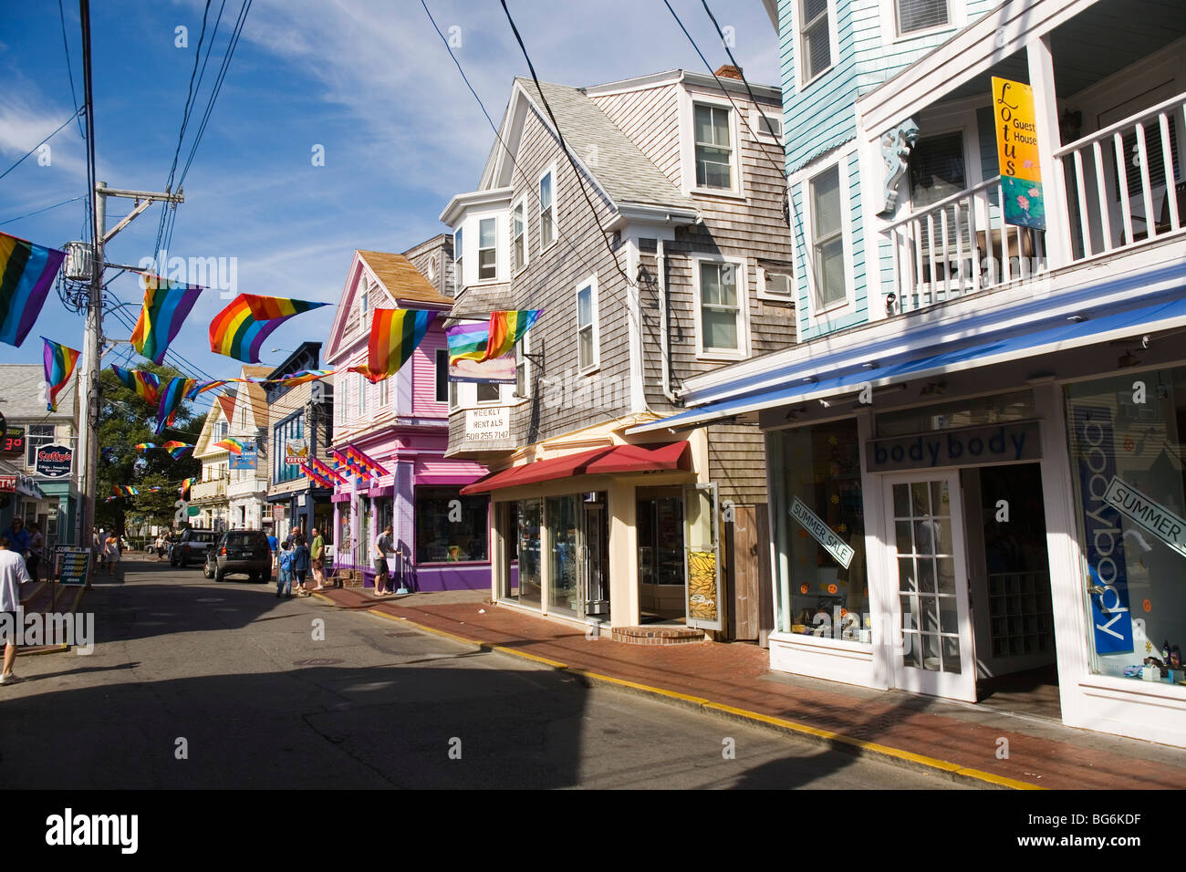 Downtown provincetown cape cod massachusetts stock photo for Cape cod chat rooms
