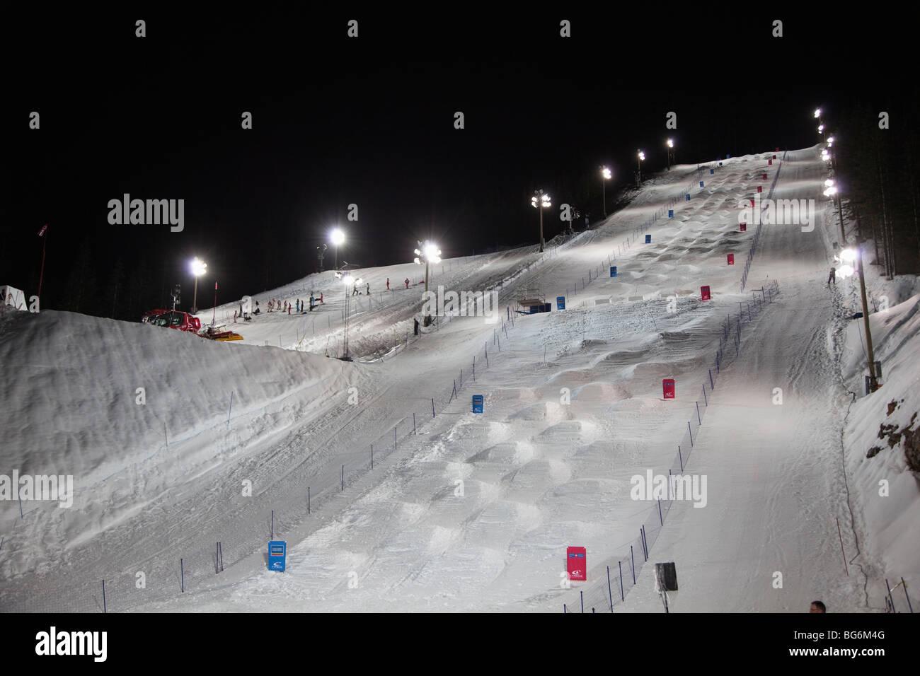 moguls run at cypress mountain ski resort, west vancouver, british