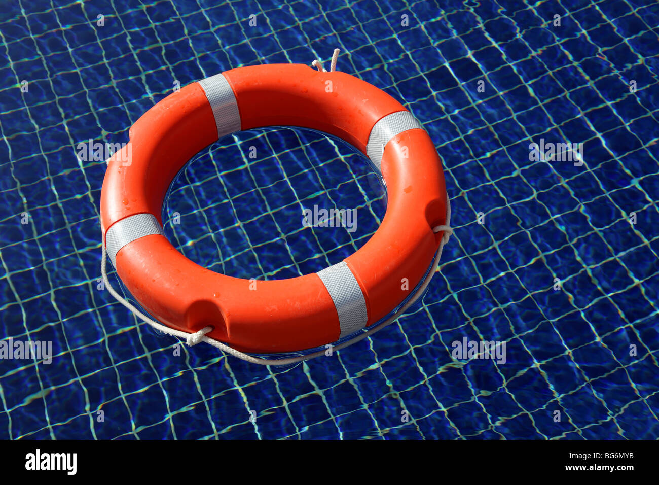Red life buoy - Stock Image