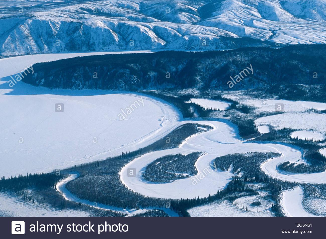 Alaska. Yukon Flats National Wildlife refuge, NWR. Oxbow lakes on the Yukon River. - Stock Image