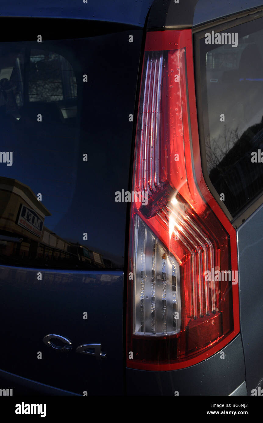 Tail lights of a Citroen C4 Picasso - Stock Image
